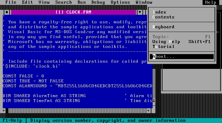 Visual Basic for MS-DOS