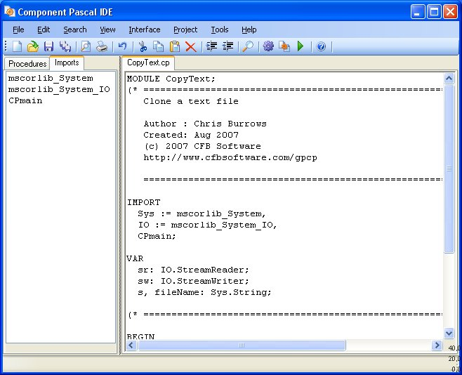 Component Pascal IDE